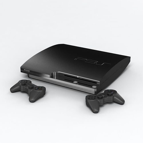 ps3 video game console 3d model obj 1