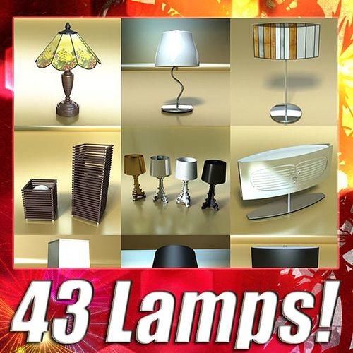 43 lamps mega pack 3d model max obj mtl 3ds fbx 1