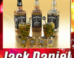 jack daniels collection 3d model