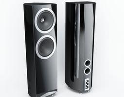 Black Hard Plastic Audio Speakers 3D