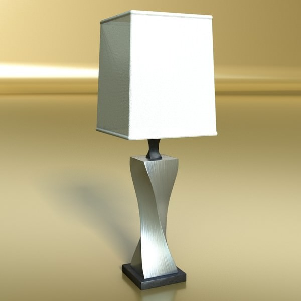 modern table lamp 07 silver 3d model max obj 3ds fbx mtl mat 2