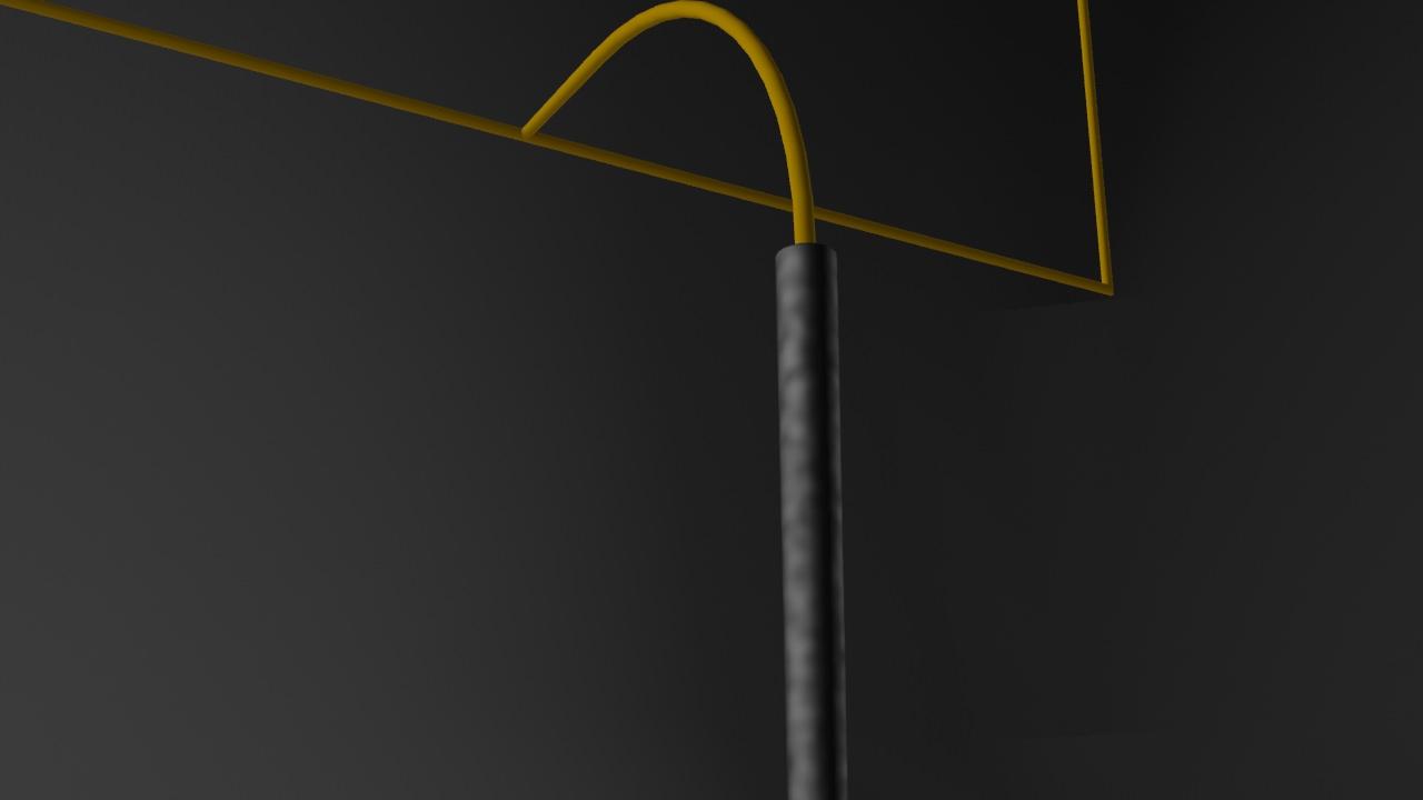 Low Poly American Football Upright Goal Post 3d Model Max Obj Mtl 3ds Field Diagram 3