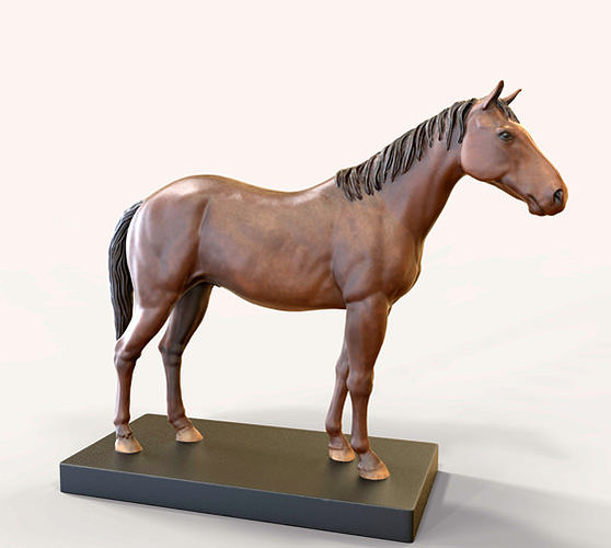 Horse 3D Model 3D Printable WRL WRZ
