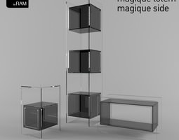 3d magique by fiam design studio klass - coffee tables and display cabinet