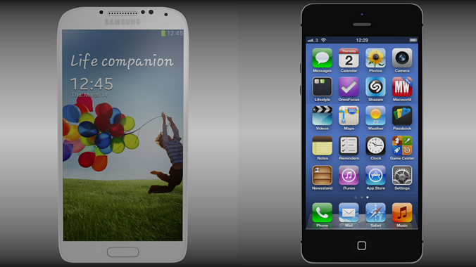 iphone 5 galaxy s4 compilation 3d model obj blend mtl 1