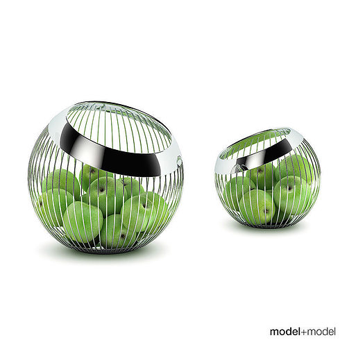 3D model WMF Lounge basket with fruits | CGTrader