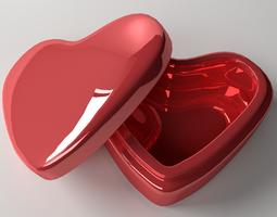 3d model valentine box
