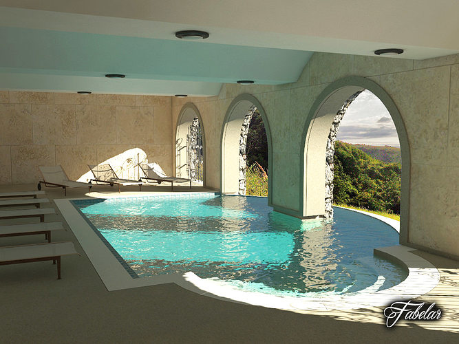 Swimming Pool 3d Model Cgtrader