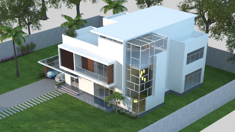 ... 3d Models Luxury Contemporary House 3d Model Max Obj Fbx C4d Mtl Tga 5  ...