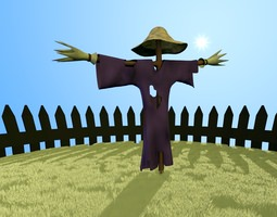 scarecrow 3d model realtime