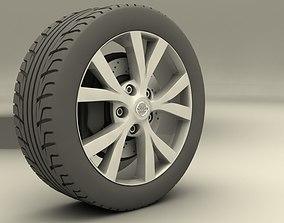 Nissan Murrano 2013 rims 3D asset low-poly