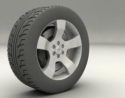 Nissan Navara 2013 rims 3D model