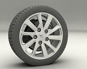 Nissan Sentra 2013 rims 3D asset