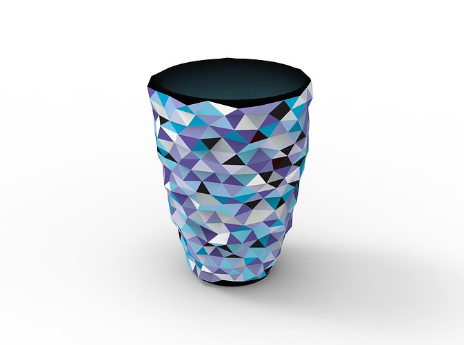Vvvase Full Color 3d Printed Vase Cgtrader