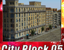city block 05 VR / AR ready 3d asset
