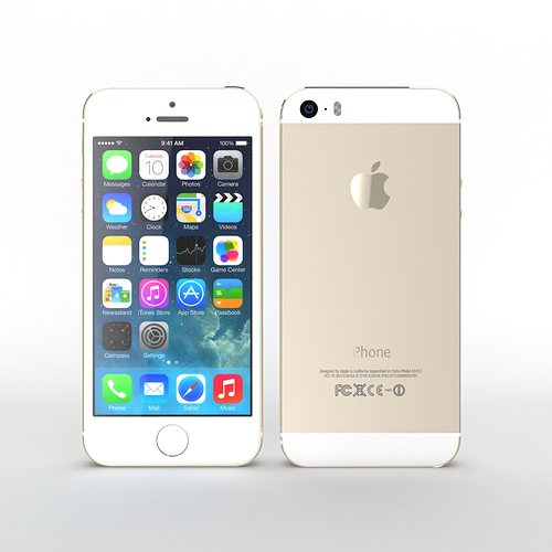 iphone 5s gold. iphone 5s gold 3d model