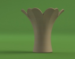 flower vase - designed for mcor printer 3d model