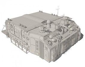 3D model Scifi hangar