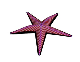 3d model pink-colored starfish animated