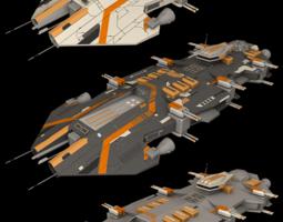 3D model Ender Battlecruiser