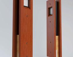 Timber Bollard 3D model