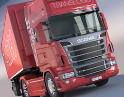 scania r 730 v8 with refrigerated semitrailer 3d model max obj 3ds fbx lwo lw lws hrc xsi