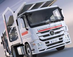 3D Mercedes Actros Car Transporter