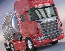 3d model scania r 730 v8 adr tanker semitrailer
