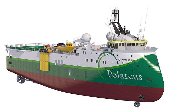 seismic vessel polarcus naila 3d model max obj mtl fbx lwo lw lws 1