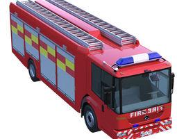 mercedes econic fire truck 3d model