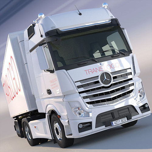 mercedes actros mp4 gigaspace with refrigerated semitrailer 3d model max obj mtl 3ds fbx lwo lw lws hrc xsi 1