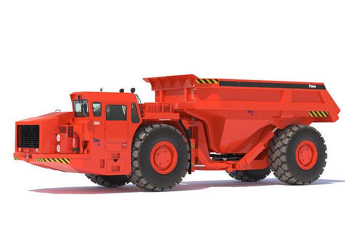 sandvik underground truck toro 50 3d model max obj mtl fbx lwo lw lws 1