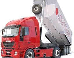 New Iveco Hi Way with Dumper Trailer 3D