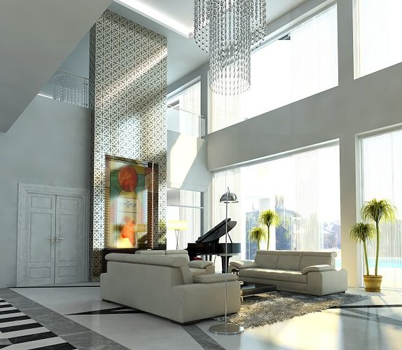 Photoreal luxury house interior 3d cgtrader for Luxury home models
