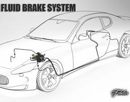 car brake system 3d model max obj 3ds fbx c4d dae
