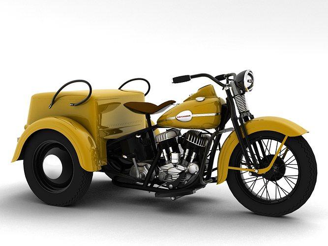 3d Model Harley Davidson Servi Car 1942 Cgtrader