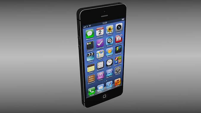iphone 5 models 3d model iphone 5 cgtrader 11013