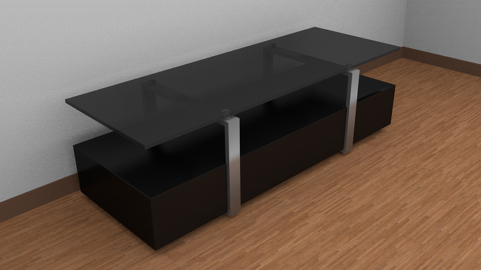 3D model TV table  CGTrader -> Modèle Table Tv