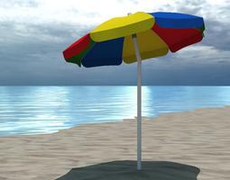 3D Beach Environments Umbrellas Bundle
