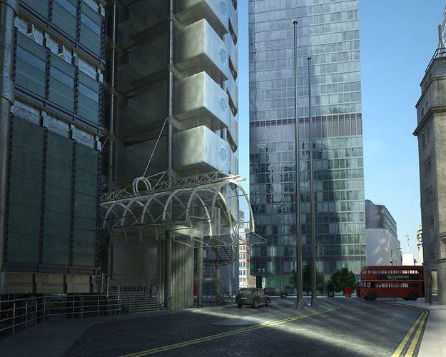 photorealistic skyscraper collection 3d model max 1