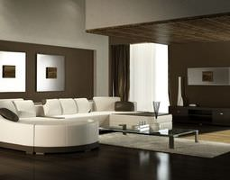 photorealistic living room interior collection 3d model