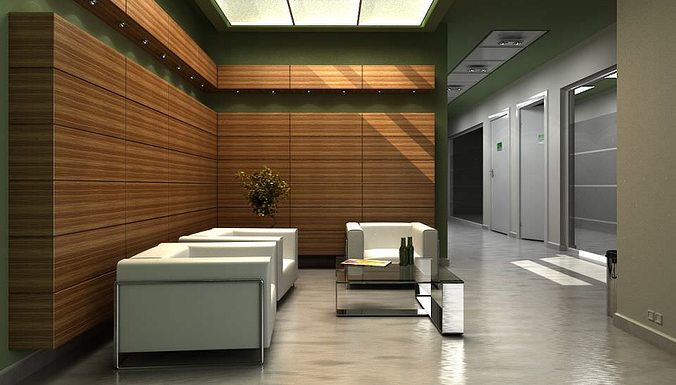 Perfect Modern Office Lobby With Chairs And Sofa Archinteriors Vol 8 3D Model
