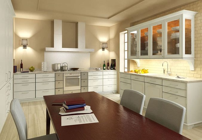 Kitchen Model 3d model photorealistic kitchen room | cgtrader