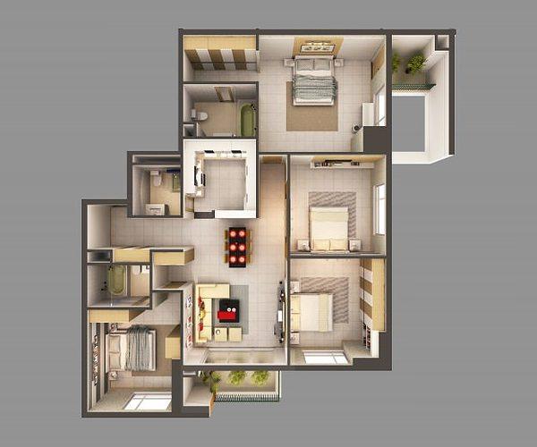 ... 3d Model Detailed House Interior 2 3d Model Max 2 ...