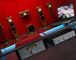 Speakers Audio System 3D model