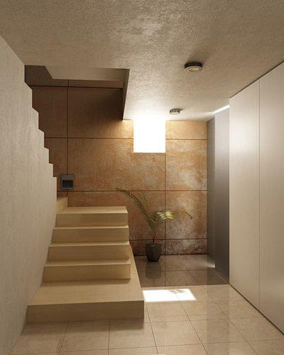 interior stairs corridor 3d model max 1