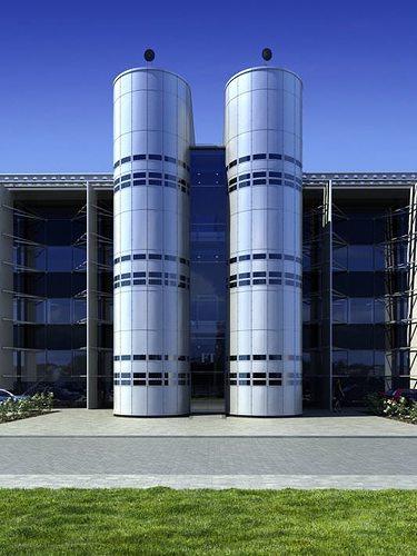 office building exterior 3d model c4d 1