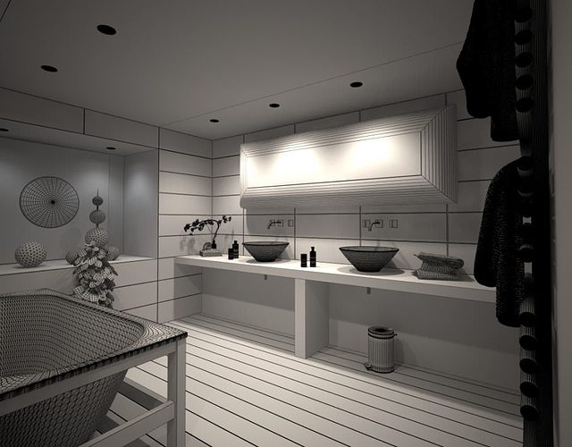 modern bathroom 3d model max 1
