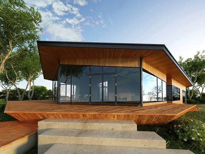 Modern house 3d model cgtrader for Modern house 3d model