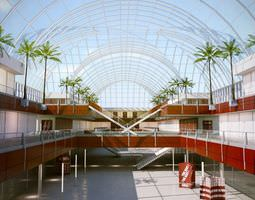 southern shopping mall 3d model